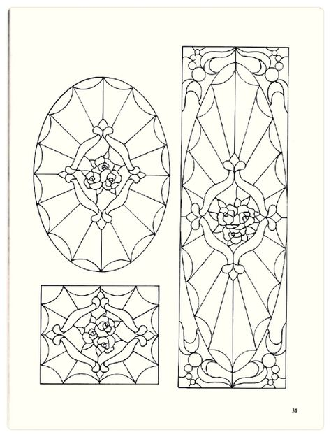 Decorative Doorways Stained Glass Pattern Book
