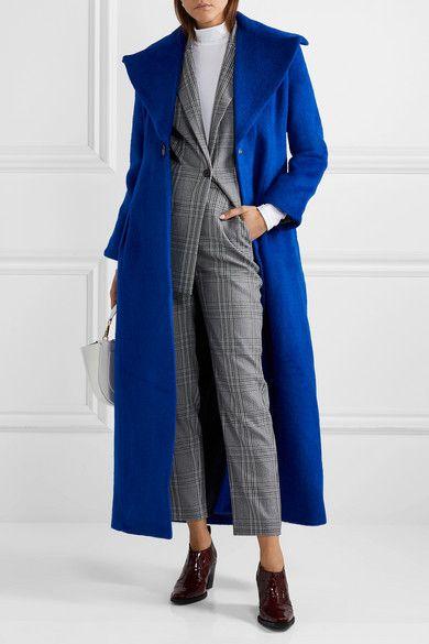 PAPER London | Belle brushed wool blend coat | NET A PORTER