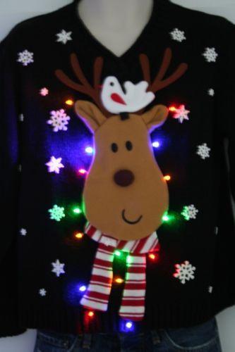Luvable Friends Printed Fleece Blanket Birds Ugly Christmas