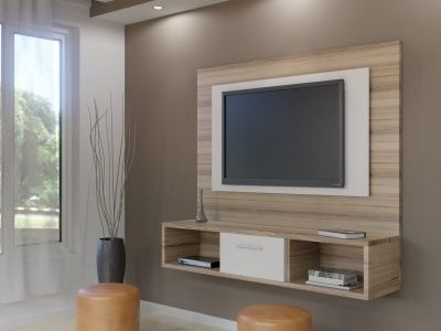 Floating Tv Wall Unit Gemini Sahara 2 Tone Double Back Tv Wall