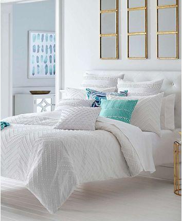 Trina Turk Freya White Duvet Set King Reviews Duvet Covers Bed Bath Macy S Duvet Cover Sets Comforter Sets Duvet Covers