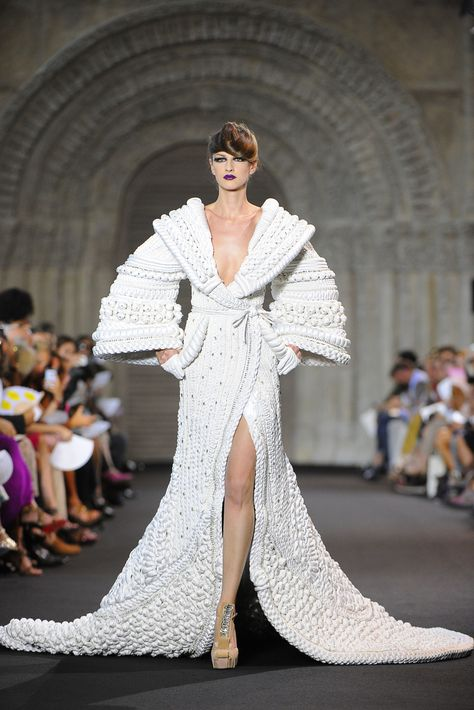 Stephane Rolland Fall 2011 couture wedding dress wedding dresses Papilio 2011 wedding gowns - Waterfall wedding dress from the Forest Dreams.