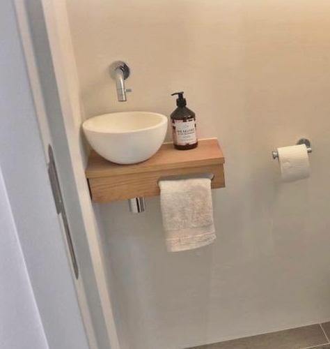 Toilet Wasbak Met Hout.Fabulous Wc Fontein Tondesk Fj87 In 2019 Gastentoilet
