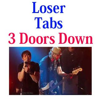 Loser Tabs 3 Doors Down How To Play Loser Chords And Sheet On Guitar Online Guitar Online Playing Guitar Bass Guitar Lessons