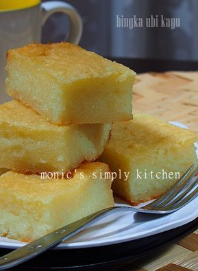 Bingka Ubi Kayu Lembut Resep Makanan Penutup Resep Makanan Memanggang Kue