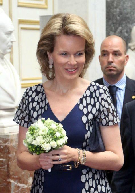 Crown Princess Mathilde  attended the 'Inbev-Latour Awards de la Sante 2013' at the Palais des Academies in Brussel