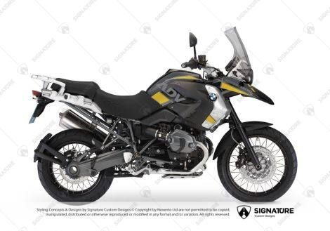 Bmw R1200gs 2008 2012 Triple Black Vector Grey Yellow With