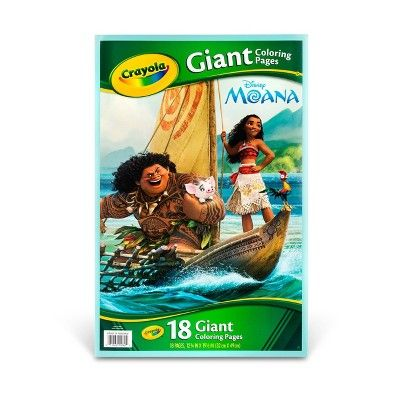 Crayola Giant Coloring Pages Moana Collection