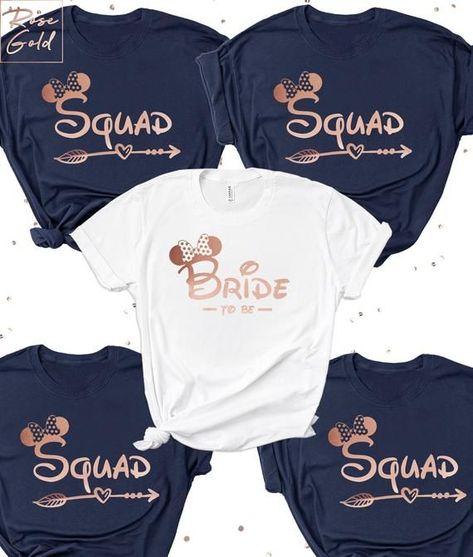 Disney Bride Squad | Hen Party Shirts | Bride & Bridesmaid | Bachelorette Party Shirts -   - #BachelorParties #bachelorette #BachelorettePartyGames #BachelorettePartyideas #Bride #Bridesmaid #disney #Hen #party #Shirts #squad