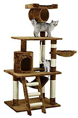 Amazon Com Go Pet Club Brown 62 Cat Condo F68 Cat Trees Pet