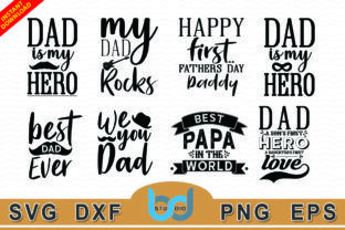 Free Are you searching for fathers day png images or vector? Father Day Svg Bundle Graphic By Bdstudio Creative Fabrica Fathers Day Quotes Fathers Day My Dad My Hero SVG, PNG, EPS, DXF File