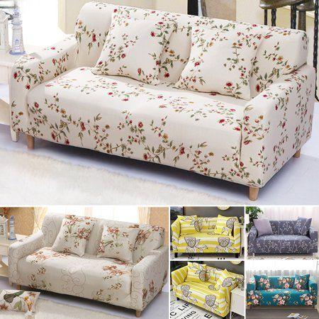 Sofa Covers Multicolored 2//3 Seater Slipcover Stretch Settee Protective Decor