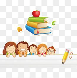 Child Book Back To School Cartoon Pupils Child Png Transparent