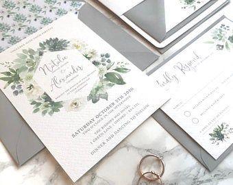 Pin By Fancy Post On Https Www Etsy Com Uk Shop Fancypostuk Affordable Wedding Invitations Spring Wedding Invitations Wedding Invitation Design