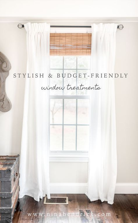 Stylish Budget Friendly Window Treatments Window Treatments