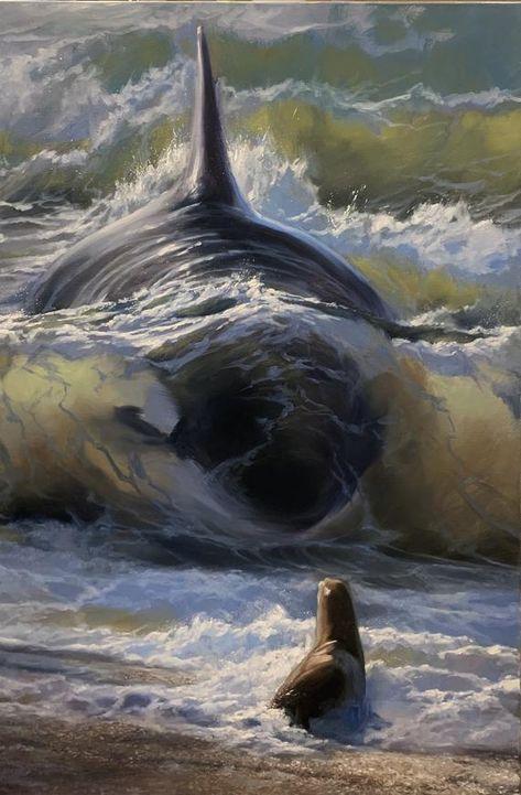 The Ocean calms my Heart🌊♥️ Arte Orca, Orca Art, Orca Kunst, Funny Animals, Cute Animals, Animal Memes, Photo Animaliere, Ocean Creatures, Tier Fotos