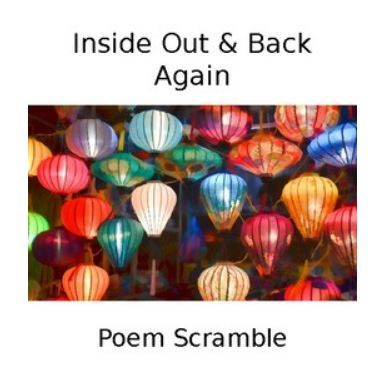 Inside Out Back Again Poem Scramble Early Monsoon How To Introduce Yourself Best Poems Poems