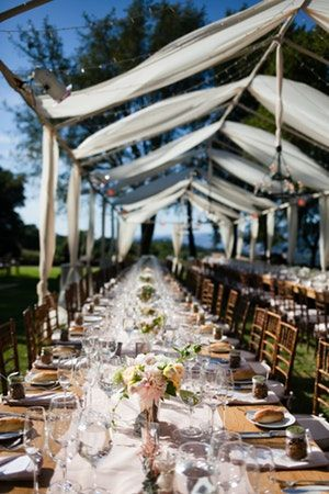 Beauty Was Everywhere At This Rustic Romantic Winery Wedding Guests Dined At King Tables Under Custom Te Winery Weddings Beautiful Chandelier Outdoor Wedding