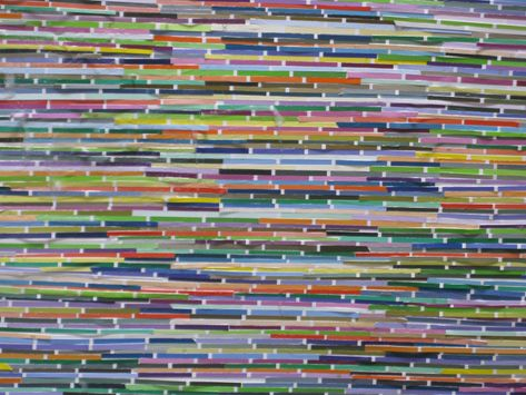 paint chip art part II- strips
