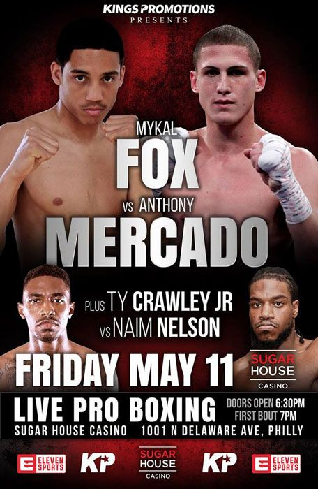 Prospects Mykal Fox And Thomas Mattice Featured On Nine Bout King S Promotions Sugarhouse Card Real Combat Media Bout Promotion Crawley