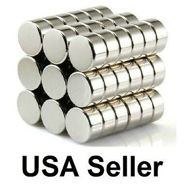 Lot of 10 New Neodymium Rare Earth Magnets N52 Grade 5mm x 6mm Cylinders