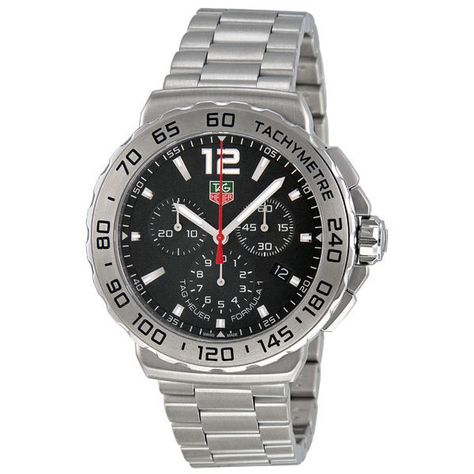 Tag Heuer Formula 1 Chronograph Black Dial Stainless Steel Mens Watch #TagHeuer
