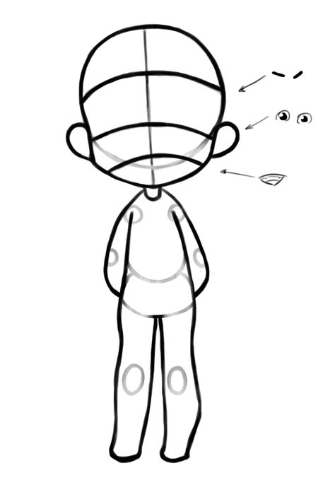 Chibi Body Deconstruction Drawing Guidelines Chibi Drawings Drawings Of Friends Art Reference Photos