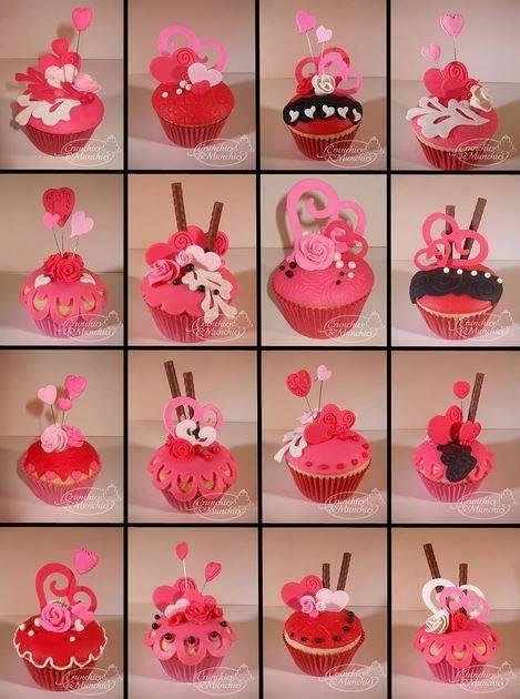 Cupcakes Para 14 De Febrero 14 De Febrero Bollitos Para El