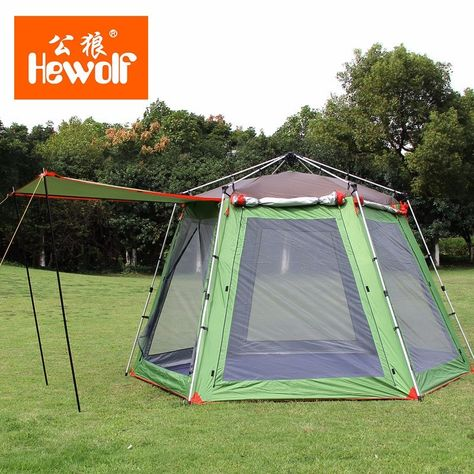 5-8 Person High Quality Windproof Waterproof Outdoors Hex Beach Automatic Tent Durable Family C&ing Gear Party Marquee Tente | C&ing u0026 Hiking | ... & 5-8 Person High Quality Windproof Waterproof Outdoors Hex Beach ...