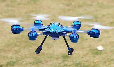 Pathfinder II Hexacopter Medium Sized Drone With HD Camera Blue