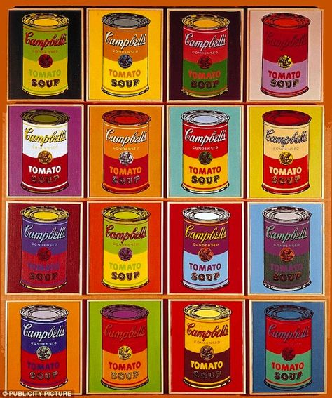Campbell's soup produces limited edition Andy Warhol soup cans.