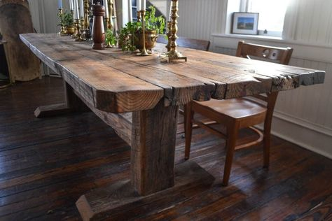 Reclaimed Timber Harvest Table In 2020 Dining Room Table Dining