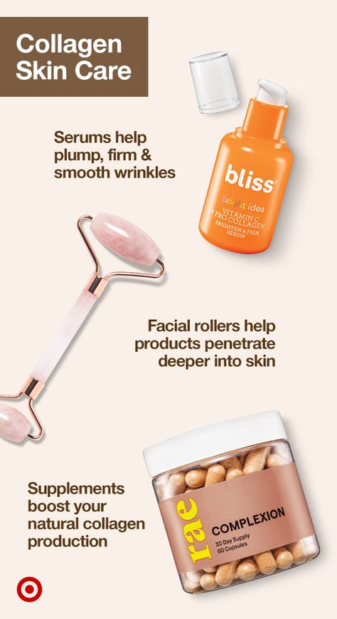 Looking for the ultimate beauty hack? Try collagen. Find skin care products, tools, collagen powders  supplements for more plump, youthful skin.