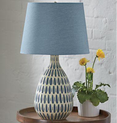 Denim Shade Table Lamp | Table lamp, Table lamps for bedroom ...
