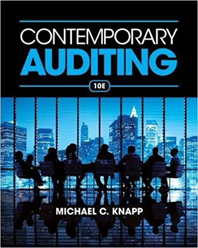 Solution Manual For Contemporary Auditing 10th Edition By Knapp Solution Manual For Contemporary Auditing Free Books Online Books To Read Online Books Online