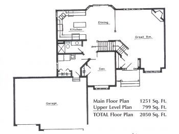 Twin Cities Mn Modified 2 Story New Home Floor Plan Chadwick