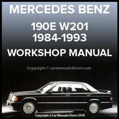 Mercedes Benz W201 Series 190 E And 190 D 1984 1993 Chassis Body Workshop Manual Mercedes Benz Body Workshop Mercedes
