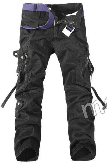OCHENTA Femme Pantalon De Travail Casual Combat Cargo Plusieurs Poches
