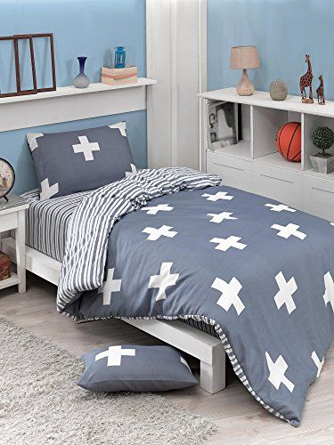 Dose Of Modern Plus Cosmic Blue Single Quilt Cover Set Eu It 162elr18419 White Cosmic Blue Quilt Cover Sets Single Quilt Quilt Cover