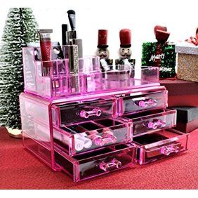 Lifewit Brush Holder Lipstick Puff Drawer Dustproof Box Makeup
