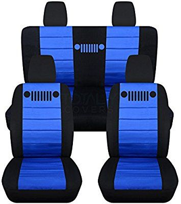 Amazon Com Fits 2011 2018 Jeep Wrangler Jk Seat Covers Black