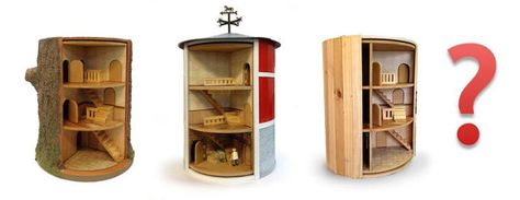 Rotating dolls' house by AmariasPaperWorks on Etsy,