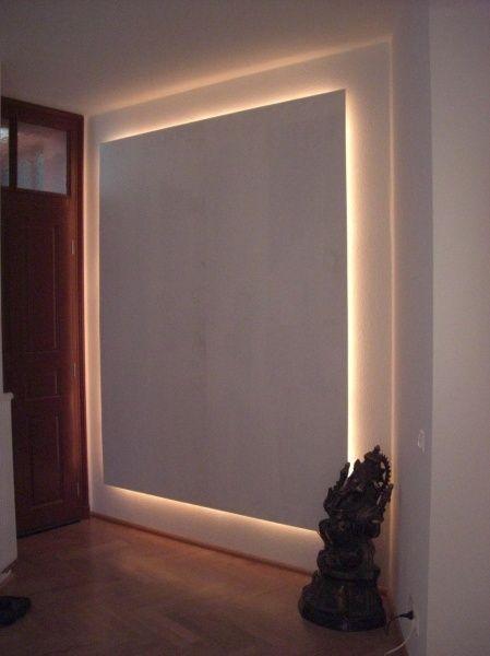 تأثيرات اضاءة جدار مخفية بالجبس لاستخدامها كخلفية تلفزيون أو خلف السرير Interior Lighting Indirect Lighting Diffused Light