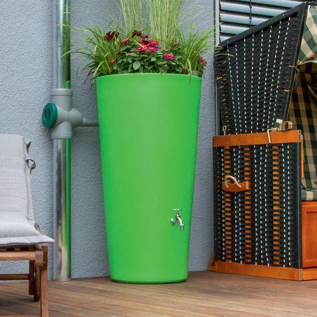 Regentonne Rainbowl Flower 150 Liter Kiwi Mit Bildern