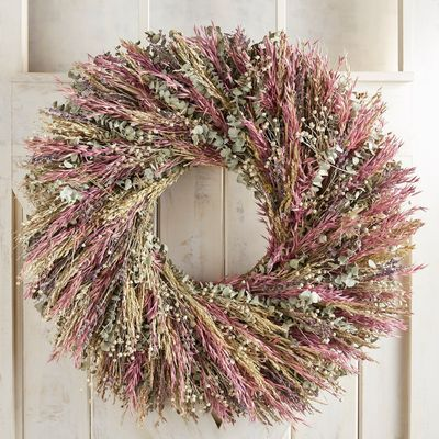 Preserved Lavender Eucalyptus Oversized 30 Wreath Wreaths Floral Arrangements Wooden Storage Crates