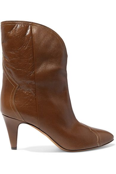 f6a3a32cad6 Isabel Marant - Dythey Leather Ankle Boots - Taupe in 2019 | Shoes ...
