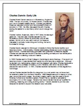 Evolution Charles Darwin Interview Charles Darwin Evolution
