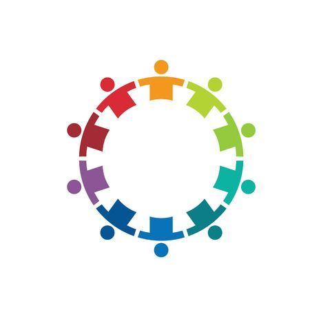 Team In A Circle 10 Image Concept Of Union Strong Group Of Charity Logos Teamwork Logo Education Logo Design