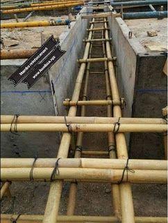 قضبان الخيزران بديل حديد التسليح في الخرسانة Reinforced Concrete Concrete Bamboo