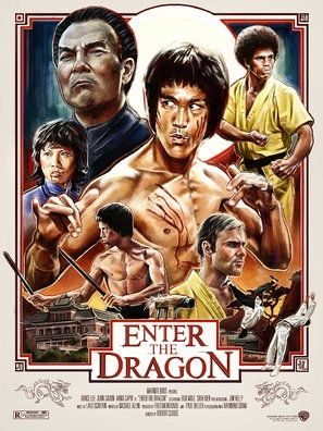 Enter The Dragon Poster Bruce Lee Movies Dragon Movies Bruce Lee